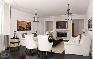 Classic, White, Living, Room, Ideas