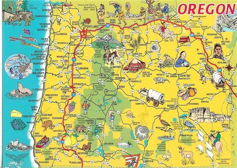 oregon map card remembering letters  postcards