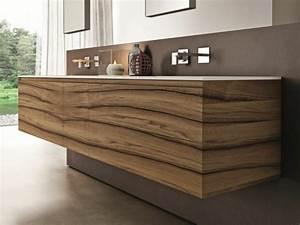 le meuble sous lavabo 60 idees creatives archzinefr With meuble sous lavabo bois
