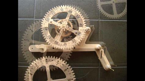 wooden gear clock genesis design clayton boyer genesis wooden gear clock solid oak