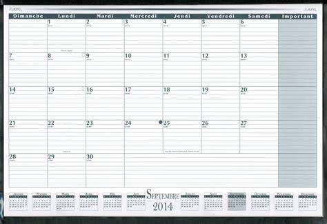 calendrier bureau livre calendrier de bureau mensuel académique 2014 2015
