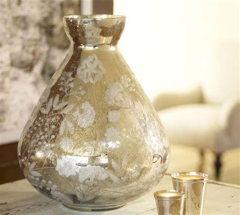 Where Can I Buy Vases by Sandblasted Mercury Glass Vase Pottery Barn