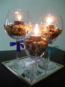 Make A Wine Glass Centerpiece - Find Fun Art Projects to