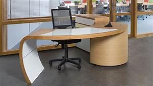 Meuble Bureau Design : bureau design ch ne et merisier meubles lebreton ~ Melissatoandfro.com Idées de Décoration