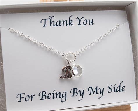 Necklace With Card, Thank You For Being By My Side