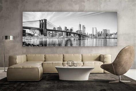 Bild Modern by New York Schwarz Weiss Panorama Kunstwerk Modern Design