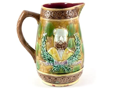 39 s parade pitcher majolica pitcher general ulysses s grant c1885 parade