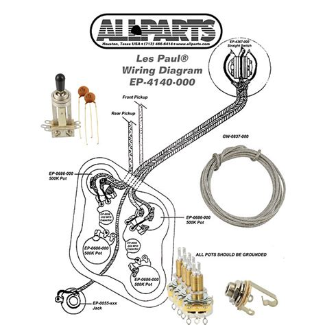 Le Paul 3 Up Guitar Wiring Diagram by Wiring Kit Gibson 174 Les Paul Complete With Schematic