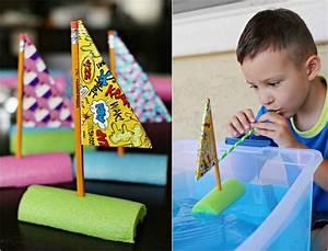 Basteln Sommer Kinder : boot aus schwimmnudeln mit dem kind basteln bastel idee pinterest ~ Markanthonyermac.com Haus und Dekorationen