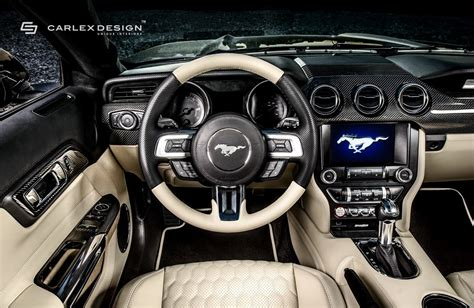 mustang interior images carlex adds whole lotta leather and carbon to mustang gt