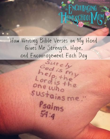 Nor does it deliver anyone by its great strength. How Writing Bible Verses on My Hand Gives Me Strength ...