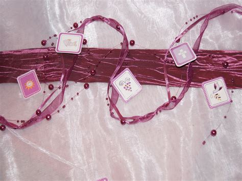 perlenkette organza pink fuchsia die tischdekoration