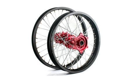 Motorcycle Spoke Rim Wheel Set With Hub And Nipples For