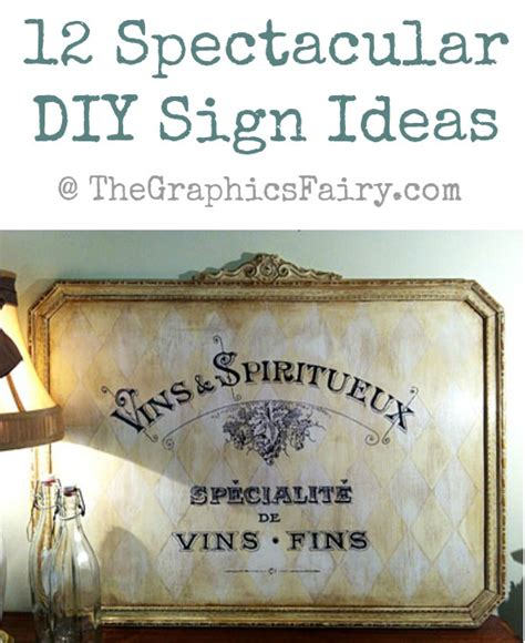 spectacular diy painted sign ideas  graphics fairy