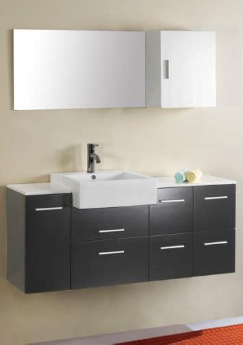Aqua 55 Inch Wall Mounted Single Sink Bathroom Vanity