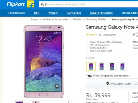 samsung cuts galaxy note 4 price ahead of galaxy note5 release in india deals