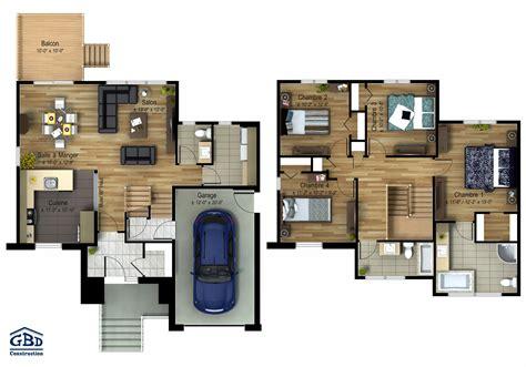 plan maison etage 2 chambres plan maison etage 2 chambres plan du0027une maison bois