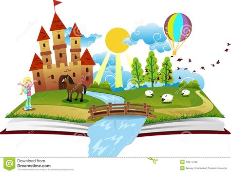 Book Of Fairy Tales Stock Illustration. Illustration Of