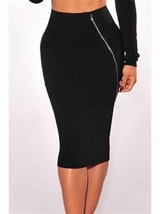 Jupe Crayon Noir : jupe crayon noir moulante tenue femme sexy ~ Preciouscoupons.com Idées de Décoration