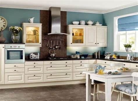 choosing colors for kitchen walls and cabinets teal wall color with shaker styled cabinet for