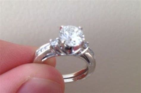 1 51ct diamond solitaire ring 14k white gold used