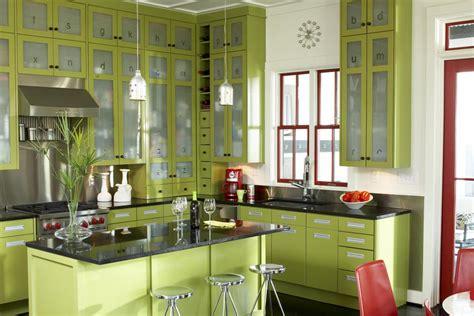 modern kitchen  green color inspirations stunning