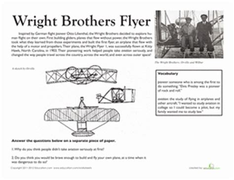 national treasures the wright brothers flyer worksheet