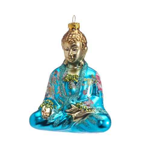 buddha christmas ornament turquoise buddha ornament gump s