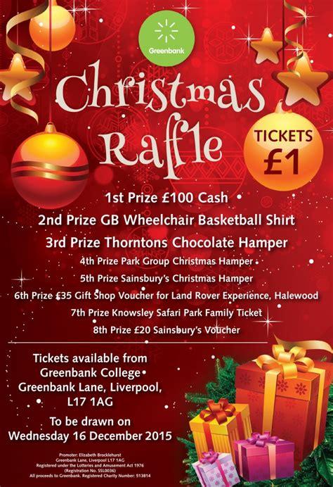 christmas charity template poster greenbank charity s christmas raffle greenbank