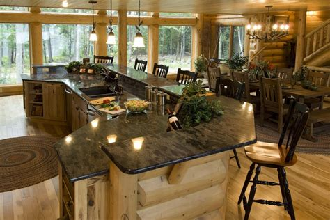 log home kitchen islands log home kitchen golden eagle log homes flickr 7156