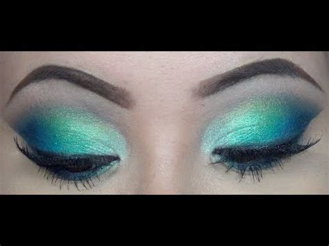 spring makeup tutorial blue  green youtube
