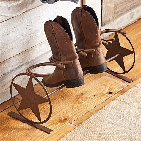 Western Star Horseshoe Boot Rack