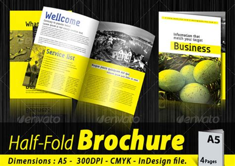 A5 Half Fold Brochure 4 Pages Brochure Templates 40 High Quality Brochure Design Templates Web Graphic