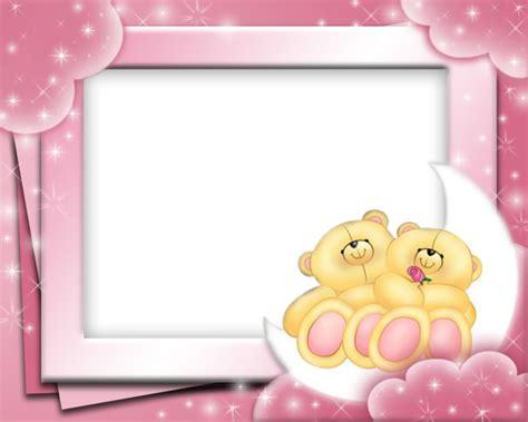 cute pink frame  bears cute frames friends picture