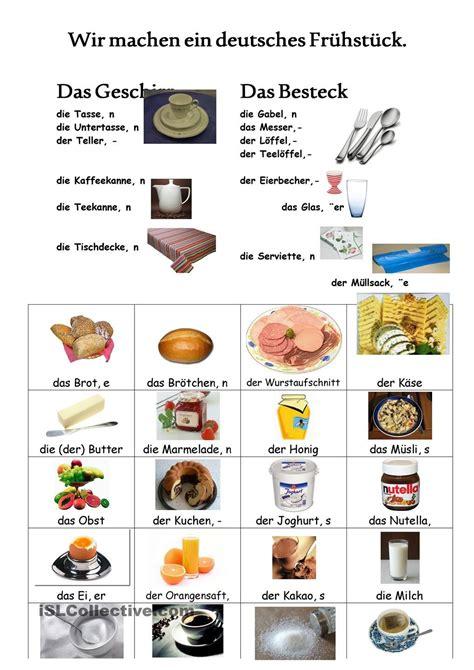 ideen für frühstück wir machen ein deutsches fr 195 188 hst 195 188 ck grammatik lernen und lernen