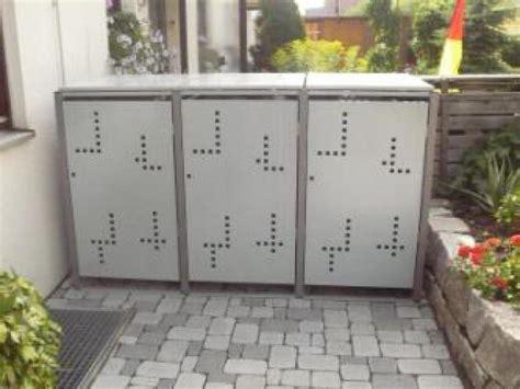 mülltonnenbox mit pflanzdach selber bauen m 252 lltonnenboxen m 252 lltonnenverkleidung aus metall