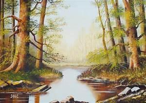 Tableau Trompe L Oeil Paysage : paysage peinture acrylique sur toile j n c ~ Melissatoandfro.com Idées de Décoration