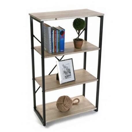 étagère à poser sur bureau etagere de bureau a poser structure metal noir et bois 4