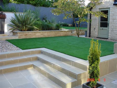 low maintenance with artificial grass astro turf garden