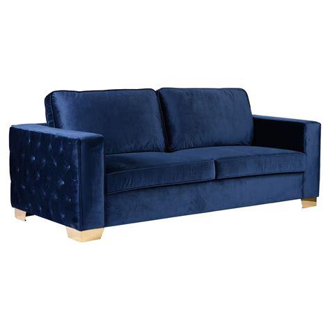 decorative tv stands isola sofa blue velvet tufted gold metal legs dcg stores