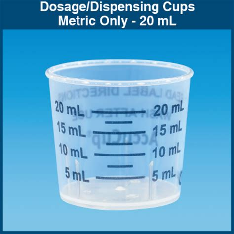 ml in a cup metric only dosage dispensing cups 20 ml 1 000