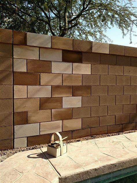 decorating ideas for cinder block walls cinder hollow block wall backyard living decorating