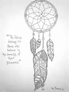 Zentangle Dream Catcher Drawings