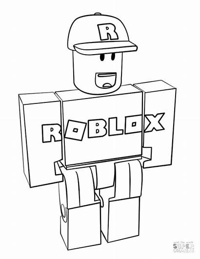 Coloring Roblox Pages Printable Guest Royale Colorare