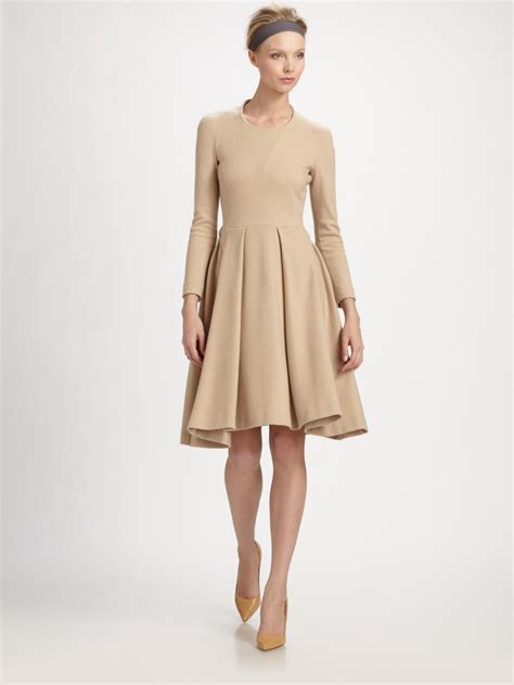 lyst cacharel wool dress  natural