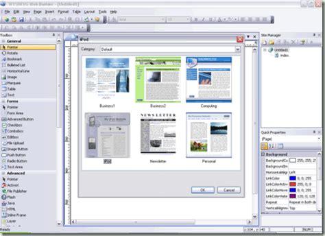 Creator Application by Wysiwyg Web Builder V6 5 7 57 Additional Templates