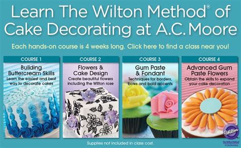 craft  cake decorating classes  ac moore scout