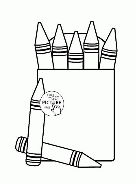 box crayons coloring page  kids   school