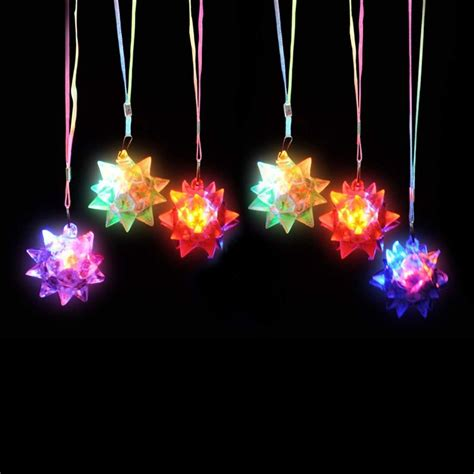 Dazzling Toys LED Blinking Crystal Star Necklace Glow Toy ...