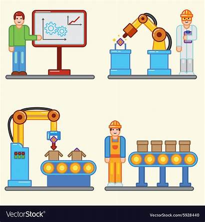 Production Factory Vector Graphic Flat Info Royalty